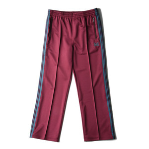 "NEEDLES Track Pant Poly Smooth ""Maroon"""