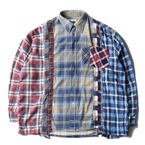 "NEEDLES Rebuild by Needles Flannel Wide 7 Cuts  Shirts ""C"""