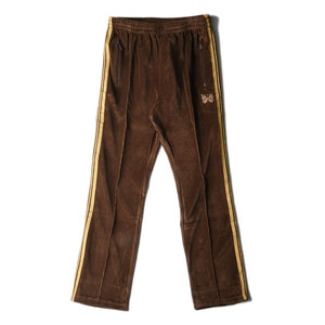 "NEEDLES Narrow Track Pant C/Pe Velour ""Brown"""
