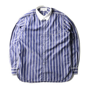 "EASTLOGUE Tab Collar Shirt ""Navy Stripe"""