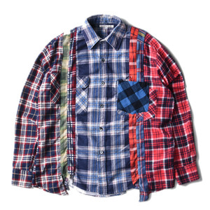 "NEEDLES Rebuild by Needles Flannel 7 Cuts  Shirts ""L-10"""