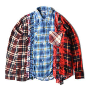 "NEEDLES Rebuild by Needles Flannel 7 Cuts  Shirts ""L-8"""