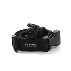 "LIFUL Buckle Webbing Belt ""Black"""