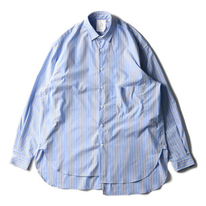 "BROWNYARD Unbalance Shirts ""Blue Stripe"""
