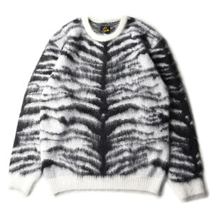 "NEEDLES Mohair Sweater Tiger ""White"""