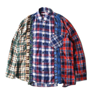 "NEEDLES Rebuild by Needles Flannel 7 Cuts  Shirts ""L-12"""