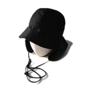 "SOUTH2 WEST8 Crusher Hat Long Tail Paraffin Coating ""Black"""