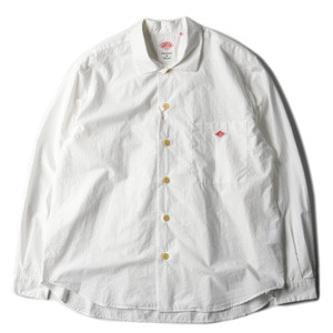 "DANTON #JD-3682 Oversize Shrits Jacket ""White"""