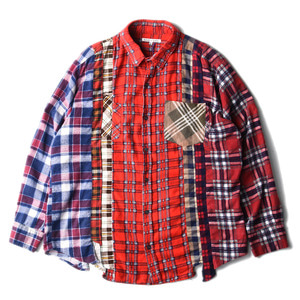 "NEEDLES Rebuild by Needles Flannel 7 Cuts  Shirts ""L-1"""