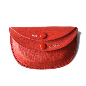 "KAPTAIN SUNSHINE x PORTER Round Wallet ""Red"""