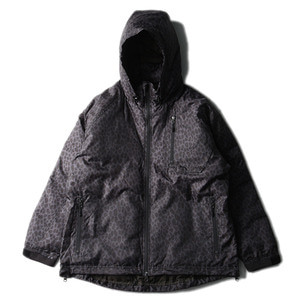 "NEEDLES C.E. Down Jacket ""Leopard Black"""