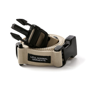 "LIFUL Buckle Webbing Belt ""Beige"""