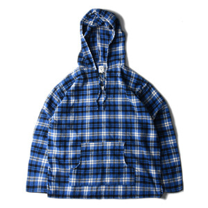 "SOUTH2 WEST8 Mexican parka Cotton Twill / Plaid ""Blue"""