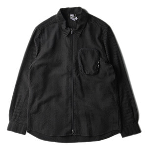 "UNAFFECTED Zip-Up Shirt ""Black Stripe"""