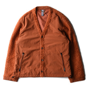 "UNAFFECTED V-Neck Cardigan ""Ginger Orange"""