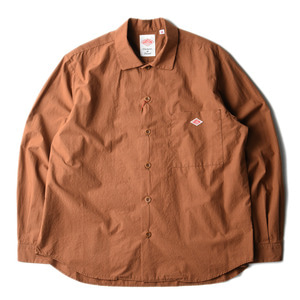 "DANTON #JD-3682 Oversize Shrits Jacket ""Terracotta"""