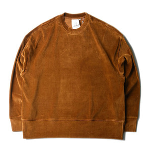 "( RE STOCK )BROWNYARD Wide Velour Pullover ""Brown"""