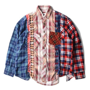 "NEEDLES Rebuild by Needles Flannel 7 Cuts  Shirts ""L-5"""