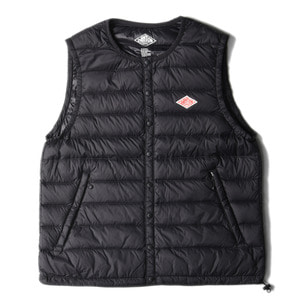"DANTON #JD-8752 Nylon Taffeta Down Vest ""Black"""