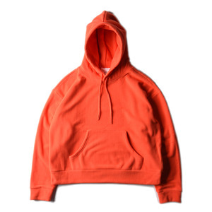 "BROWNYARD Wide Fleece Hoodie ""Orange"""