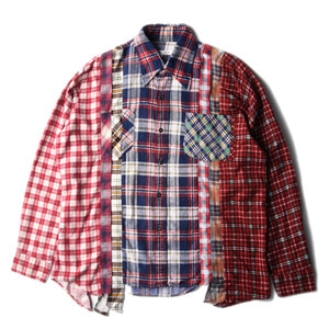 "NEEDLES Rebuild by Needles Flannel 7 Cuts  Shirts ""L-3"""
