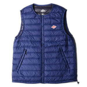 "DANTON #JD-8752 Nylon Taffeta Down Vest ""Deep Blue"""