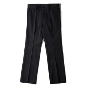 "SOE Double Cloth Flare Straight Pants ""Black"""