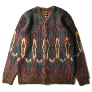 "NEEDLES Mohair Cardigan Psychedelic ""Brown"""