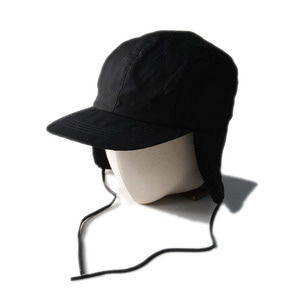"SOUTH2 WEST8 Earflap Cap Paraffin Coating ""Black"""