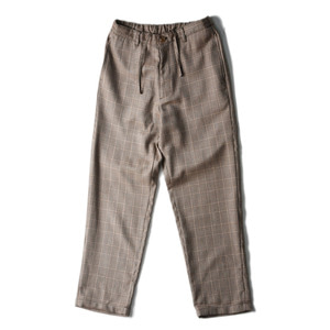 "BROWNYARD Wide Pants ""Brown Check"""