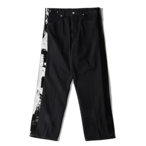 "SOE Side-Taped Denim Trouseres ""Black"""
