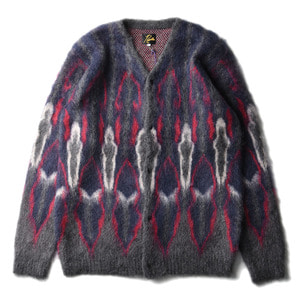 "NEEDLES Mohair Cardigan Psychedelic ""Charcoal"""