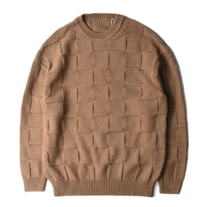 "CREPUSCULE Links Knit ""Brown"""