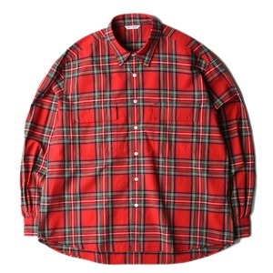 "NEITHERS 211-17 2-Pocket Wide Shirt ""Red/Green"""