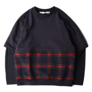 "SOE Layered Sweat Shirt ""Navy"""