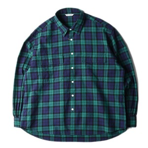 "NEITHERS 211-3 2-Pocket Wide Shirt ""Green/Navy"""