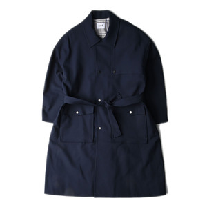 "KIIT C/P W Cloth Trench Coat ""Navy"""