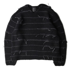 "BUKHT V Neck Hand Made Sweater ""Black"""