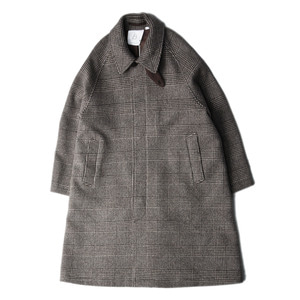 "BROWNYARD Balmacaan Coat ""Brown Check"""