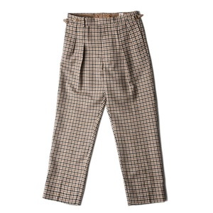"KAPTAIN SUNSHINE Two Pleats Trousers ""Brown Gunclub"""
