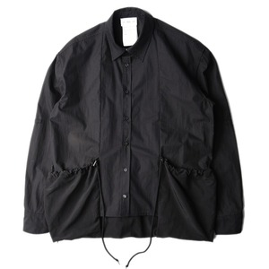 "(RESTOCK) POST ARCHIVE FACTION Side Pocket Shirt ""Black"""