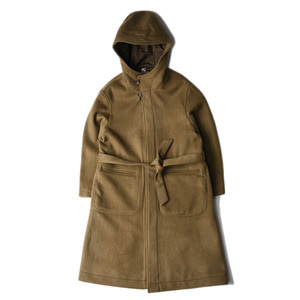 "UNAFFECTED Hooded Robe Coat ""Olive"""