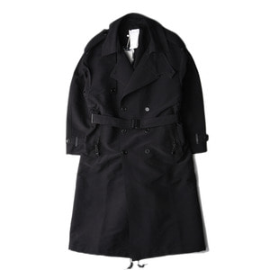 "POST ARCHIVE FACTION Trench Coat ""Black"""