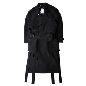 "POST ARCHIVE FACTION Skeleton Trench Coat ""Black"""