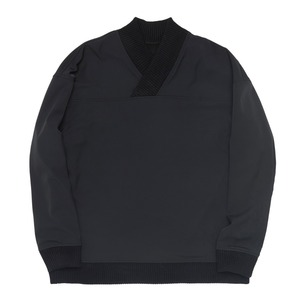 "QLAD MUSEUM Triangle Collar Bonded Pullover ""Black"""