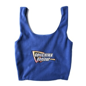 "CONICHIWA bonjour Fleece Bag ""Blue"""