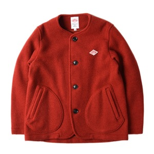 "DANTON #JD-8903 Women's Wool Mosser No Collar Jacket ""Brick"""
