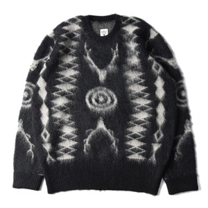 "SOUTH2 WEST8 Loose Fit Mohair / Native Sweater ""Black"""