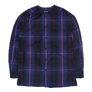 "QLAD MUSEUM Natural Cut Round Shirts ""Navy"""
