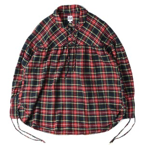 "AIE String Shirt ""Navy & Red"""
